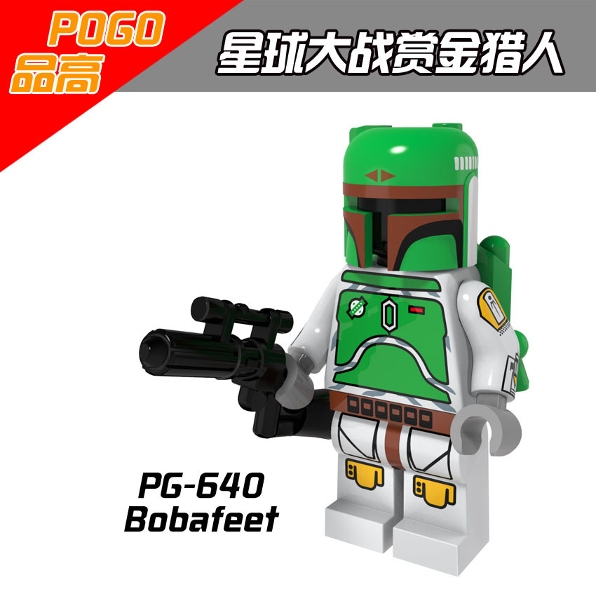 Single Sale PG640 Green Boba Fett Cloud City Star Wars Bounty Hunter Minifigures Blocks Models &amp; Building Toys For Children<br><br>Aliexpress