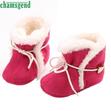 CHAMSGEND Best Seller  Fashion baby shoes cute lovely autumn Baby Soft Sole Snow Boots Soft Crib Shoes Toddler Boot S35