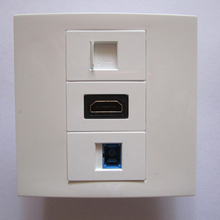 White Wall Panel Socket With HDMI RJ45 SC Optical Fiber CE Approve Home Plugs Factory Wholesale Price Free Shipping