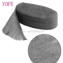 Grade 0000 Steel Wire Wool 3.3m For Polishing Cleaning Remover Non Crumble #S018Y# High Quality
