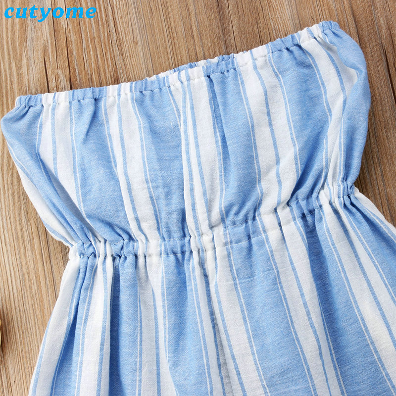 Mother Women And Daughter Girl Matching Clothes Striped Overalls Dress One-pieces Jumpsuits For Mommy And Me Family Outfits (11)
