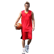 2017 2018 Men Quick Dry New Basketball Jerseys Kits Jogging Basketball Uniforms Breathable Sleeveless Sports Training Sets(China)
