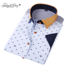 DAVYDAISY Summer Men Shirt High Quality Short Sleeve Fashion Floral Printing Man Shirts Brand Male Dress Shirt DS018(China)