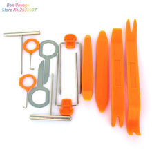 12pcs Car Door Clip Panel Radio Removal Tool For Volkswagen POLO Tiguan Passat Golf Jetta Bora Touareg Touran CC Phaeton(China)