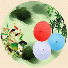 1 Piece New Bamboo Polyester Paper Umbrella Parasol Dancing Wedding Bridal Party Coasplay Decration