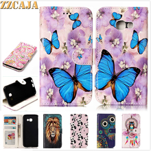 ZZCAJA For Samsung Galaxy A3 A5 (2017) A320 A520 Case Flip PU Leather 3D Carving Animals Tiger Art Wallet Card Slot Stand Covers