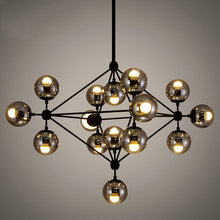 5,10,15 head bulbs DNA bubble glass ball pendant light Modo magic bean pendant light(China)