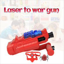 3-piece/set automatic spacewar infrared beam laser tag gun cs team shooting targets game toy guns parts gift for kids(China)