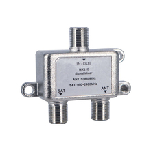 High Quality 2 In 1 Dual-use 2 Way Diplexer TV Signal Mixer Satellite Sat Coaxial Combiner Cable Splitter Switch Switcher