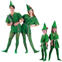 Children's Day Green Fairy Robin Peter Pan Cos Clothing Adult Halloween Costume Masquerade Cosplay Show Clothes(China)