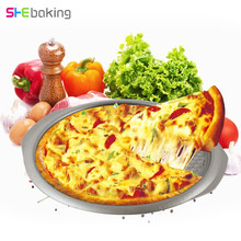 Shebaking 1pc Stainless Steel Pizza Pans 3D Baking Pizza Fondant Bread Dessert Mold DIY Baking Pastry Tools(China)