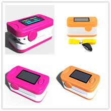 2pcsColor Rosered Pink OLED Fingertip Pulse Oximeter With Audio Alarm & Pulse Sound - Spo2 Monitor Finger Puls Oximeter