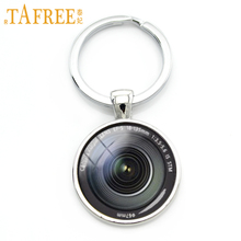 TAFREE Dslr lenses art picture keychain keep that moment forever camera lens key chain 2016 new design fashion jewelry KC371