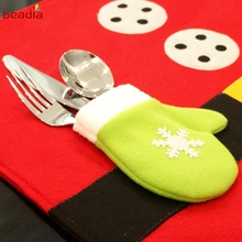 Christmas Stockings Placemats Knife And Fork Mat Christmas Decorations For Home Feliz Navidad Craft Supplies 45x33cm 1Pcs