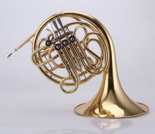 Professional 4-key Double French Horn Gold lacquer F/Bb