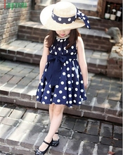 JAYCOSIN Modern Girls Dress Sleeveless Dot Chiffon Sundress O-Neck Dress Summer Costume Children Clothing Bosudhsou  Feb17