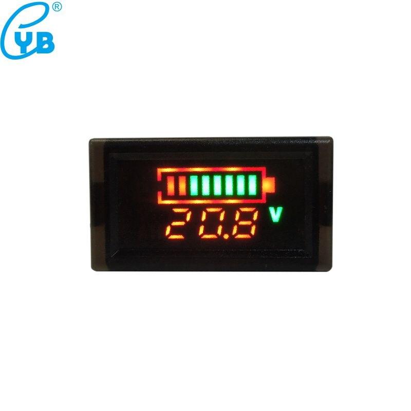 YB28VE-W Monitoraggio percentuale capacit/à tensione digitale Indicatore stato batteria 6-120 V CC