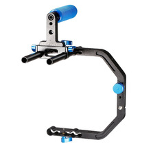 Neewer 15mm C-Shape Support Mount Bracket+Top Rubber Handle Grip for DSLR Camera DV Support System Shoulder Rigfor Photography(China)