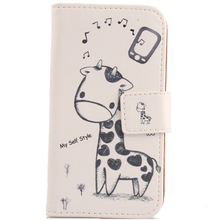 LINGWUZHE 6 Patterned Book Style PU Leather Flip Cover Cell Phone Case For MTC Smart Sprint 4G 4.5''