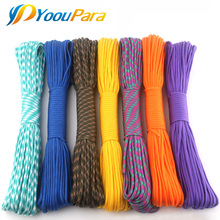 230 Colors Paracord 550 100FT 50FT Paracord Rope Mil Spec Type III 7Strand Paracorde 550 Survival Kit Equipment Wholesale(China)