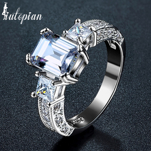 Iutopian Brand Wedding Rings For Women With Top Quality CZ Anniversary Gift  Anti-Allergy #UR343