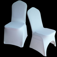 100 pcs White Universal Stretch Polyester Spandex Party Wedding Chair Covers for Weddings Lycra China Dining Kitchen Chair Cover(China)