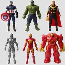 5 PCS/set the avengers super hero captain batman superman green giant iron man PVC figure doll 29 ~ 33 cm