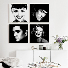 Popigist Celebrities Popular Art Bruce Lee Marilyn Monroe Canvas Art Painting Print Poster Picture Home Wall Decorative Portrait