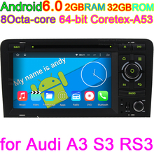 Android 6.0 Car Intelligent System PC DVD GPS For Audi A3 2002-2011 With Wifi 4G GPS Navigation BT Radio Steering wheel control