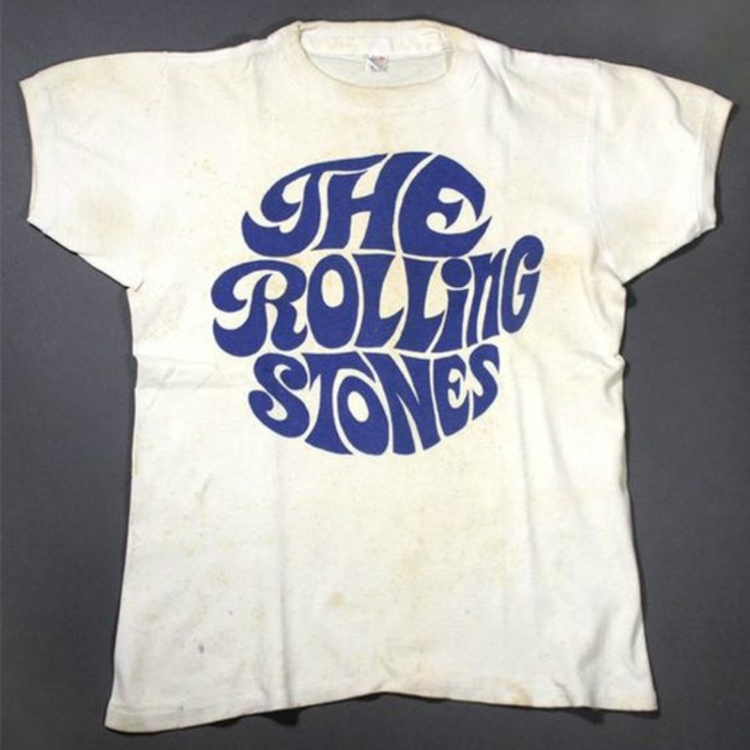 The Rolling Stones Mens T-Shirt Vintage Typeface