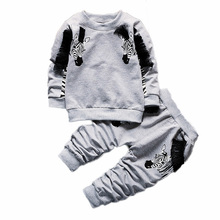 2017 New style baby Zebra print boy clothing sets cotton long sleeve t-shirt+pants baby girl clothes newborn sport suit BS-281