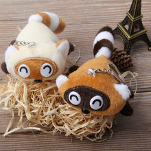Korean cute little raccoon special offer mobile phone hanging bags wholesale plush doll pendant wedding kawaii gift