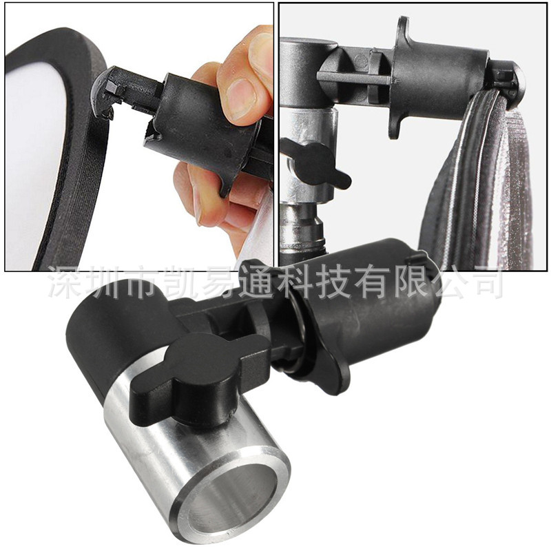 New Photo Video Photography Studio Background Reflector Softbox Disc Holder Clip for Light with Plastic and Aluminum Material