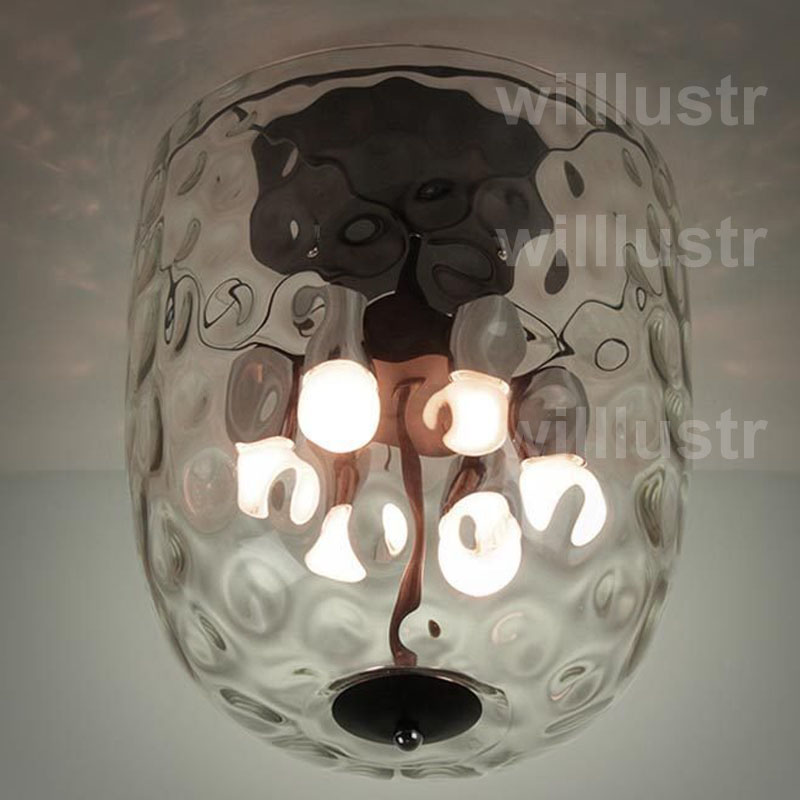 Compare prices on big crystal lamp shade online shoppingbuy low willlustr ceiling lamp clear glass big transparent lamp shade glass light pineapple polka dot water wave mozeypictures Choice Image