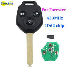 UNCUT KEY KEYLESS ENTRY REMOTE key Fob 3 Button for Subaru Forester 433MHz 4D62 Chip(China)