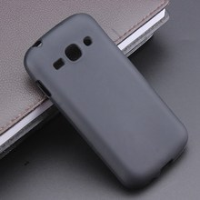 Black Gel TPU Slim Soft Anti Skiding Case Back Cover For Samsung Galaxy Ace 3 S7270 S7272 Mobile Phone Rubber silicone(China)