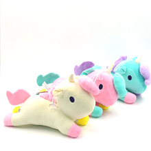 25CM Twin-star Kawaii Unicorns Stuffed Plush Toy 3 Colors Soft Dolls For Kid Girls Birthday Gifts Children Snap Pillow Home Deco(China)