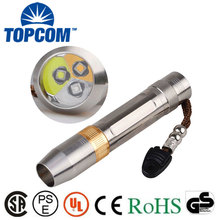 5W LED White Light + UV Light  + Yellow Light Torch Lamp Gem Jewelry Testing Flashlight with 18650 Battery