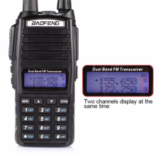 HOT Portable Two-way Transceiver Radio Walkie Talkie 10 km CB Ham Radio amateur For Vhf Uhf Dual Band UV 82 UV82 Baofeng UV-82