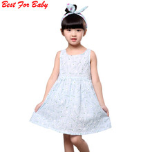 Children Kids Girl Summer Dress Kids Teens Sleeves Printing Pattern cotton dress clothes Vestidos