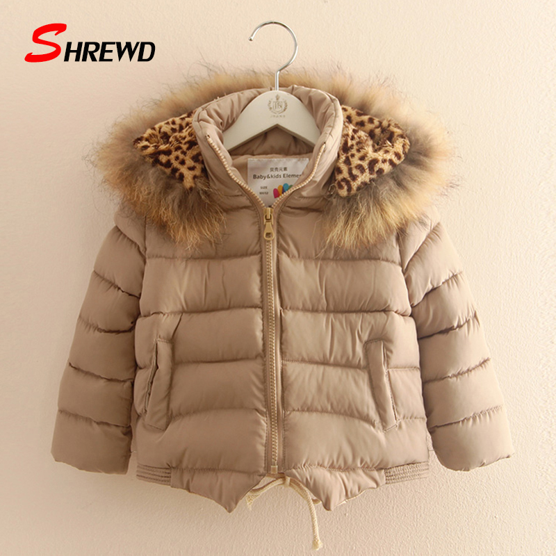 Kids Jackets For Girls 2017 New Fashion Fur Collar Solid Color Winter Coat Kids Hooded Long Sleeve Kids Clothes Girls 4422WОдежда и ак�е��уары<br><br><br>Aliexpress