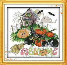 Halloween(1)(pumpkin) Printed on Canvas DMC Counted Chinese Cross Stitch Kits printed Cross-stitch set Embroidery Needlework(China)