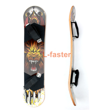 "9""x 37"" Mountain Skateboard Deck 10 layer Off Road Bamboo Deck Longboard Board With Foot Holder Adult Skateboard Without Truck(China)"