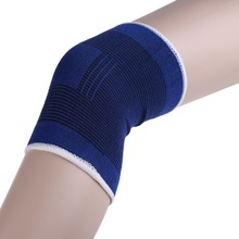 EA14 2x Blue Knee Pads Knee Support Brace Leg Arthritis Injury GYM Sleeve Elasticated Bandage Elbow Pad Kneepads