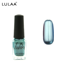 LULAA DIY Nail Gel Polish 12 Colors 6ML Gorgeous mirror off Varnish Cheap Manicure &stamp Nail Polish Metal bright(China)