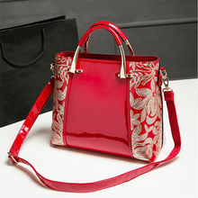 2017 New Fashion Genuine Leather Women bag Beading Sequins handbags ladies' Shoulder Messenger Bag Coat of paint Bucket bags