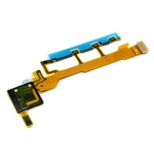 Good Quality Power Volume Button+Mic Flex Cable Repair For Sony Xperia Z L36h C6603 C6602 New In Stock + Tracking(China)