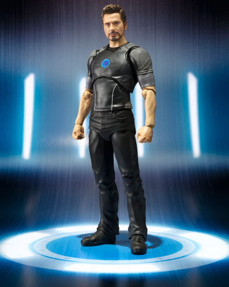 18cm Avengers Assemble Iron Man 3 Tony Stark Animated Doll Super Heroes PVC Action Figure Collection Model Toys (4)