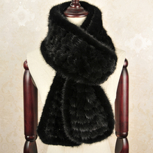 2015 winter natural mink fur scarf long genuine mink fur scarf