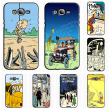 TinTin Destination Adventure Wallet Cell Phone Case For Samsung Galaxy A J 1 3 5 7 2016 Pro Cover Shell Accessories Decor Gift